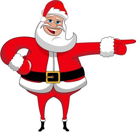 indicating: Santa Claus indicating isolated Illustration
