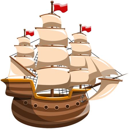 分離された帆船 写真素材 - 45873311