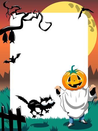 Halloween Photo Frame Kid Phantom