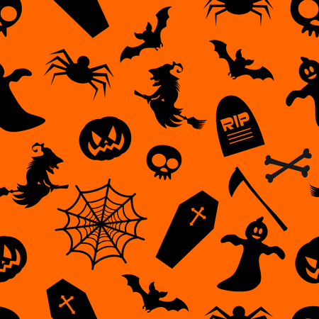 halloween background: Seamless Halloween Background
