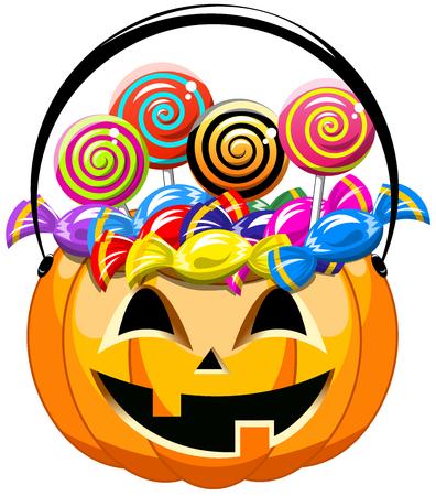 Halloween Bucket full of sweets