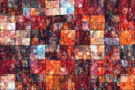 handdrawn: Red Orange Abstract Background Handdrawn