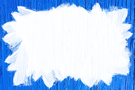 whitespace: white painted area on blue painted wooden texture Stock Photo