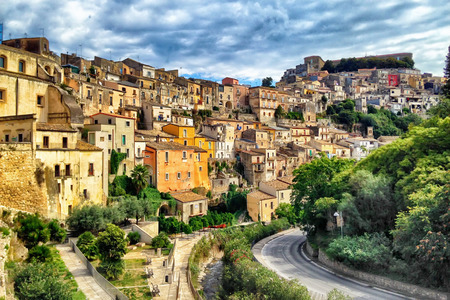 the historical: Sicily Italy Ragusa Historical Stock Photo
