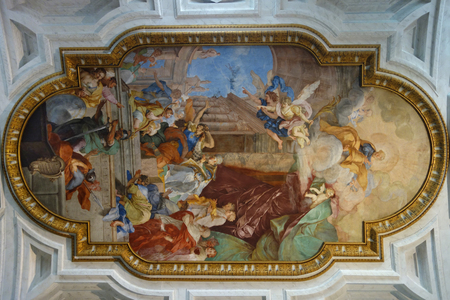 vincoli: Fresco on Ceiling of Church of Saint Peter in Chains in Rome Italy