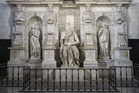 vincoli: The Moses by Michelangelo in Church of Saint Peter in Chains in Rome Italy