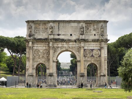 constantine: ROME, ITALY - MAY, 2016: Arch of Constantine in spring in Rome, Italy