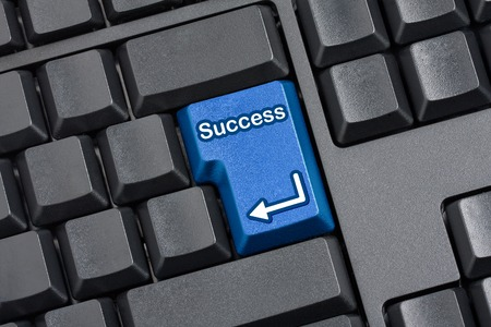 replaced: computer keyboard with Enter key replaced with blue Success Key
