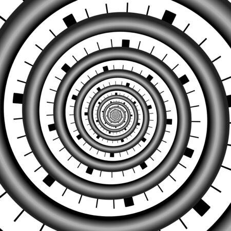 recursive: Abstract infinity spirals