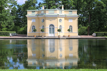 bathhouse: Bathhouse in the garden of Cathrines palace in St. Petersburg