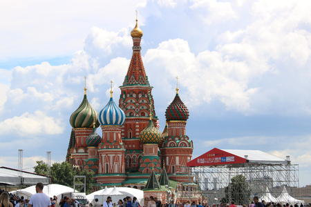 Moscow, Russia - July 2016: Saint Basils Cathedral Kremlin