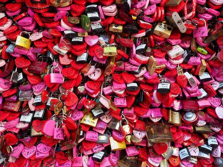 rustiness: Love locks at house of Juliet in Verona Editorial