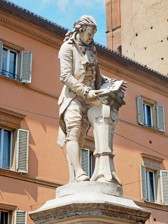 physiologist: Galvani statue in Bologna Italy