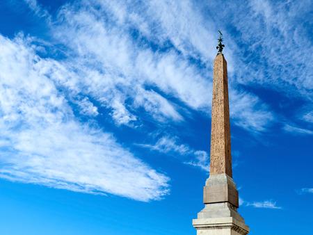 Egyptian Obelisk at trinita dei monti in Rome, Italy Stock Photo