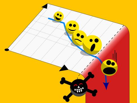 Deadline pressure self control concept emoticons Illustration