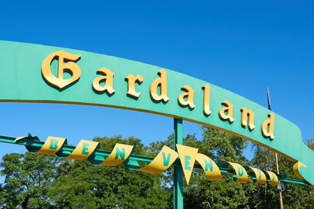 Entrance Sign at Gardaland amusement park