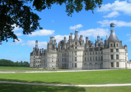 the loire: Chambord Castle of Loire valley France
