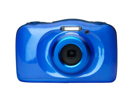 Compact digital camera front view isolated Stock Photo