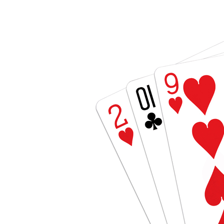 Playing cards arranged to make 2019 year Stock Photo