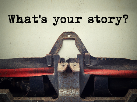 What's your story vintage typewriter close up
