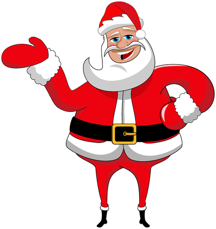 Santa claus cartoon presenting isolated