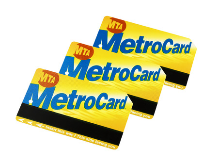 Metrocard New york City Subway isolated on white