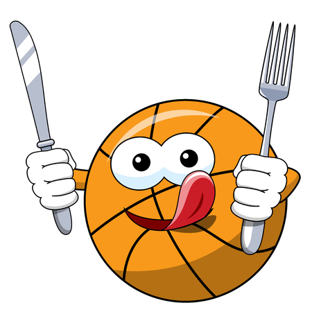 basketball ball cartoon funny character isolated on white