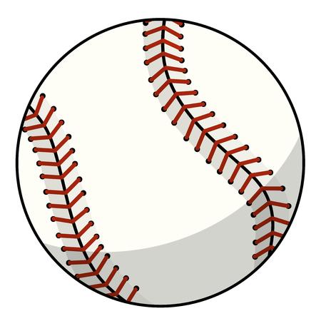 baseball ball character mascot cartoon vector isolated on white Vecteurs