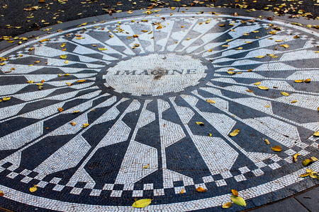 The Imagine mosaic at Strawberry Fields in Central Park New York