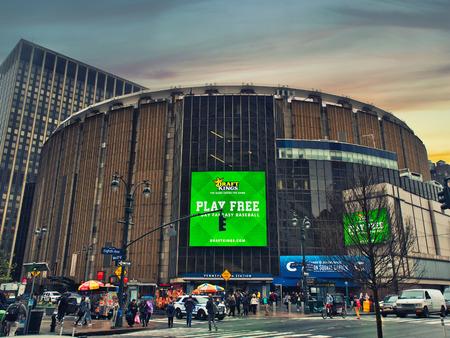 New York City, USA - April 2018: Madison Square Garden in Manhattan