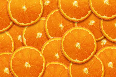 Orange slices topview backdrop or background