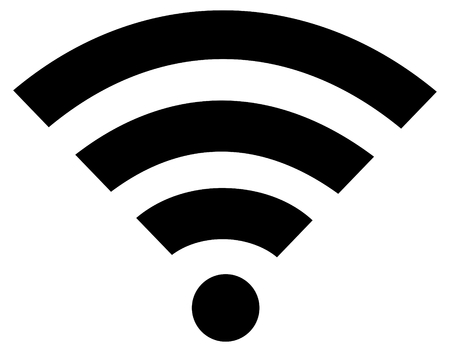 wifi or wi-fi wireless flat icon isolated Illustration