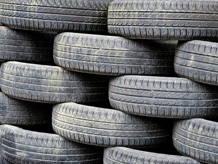 Heap of used car tyres Reklamní fotografie