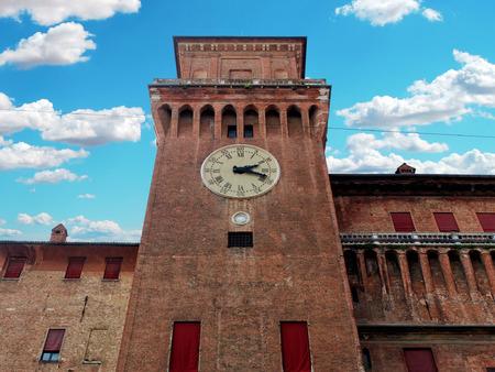 Medieval Estense Castle in Ferrara, Italy 報道画像