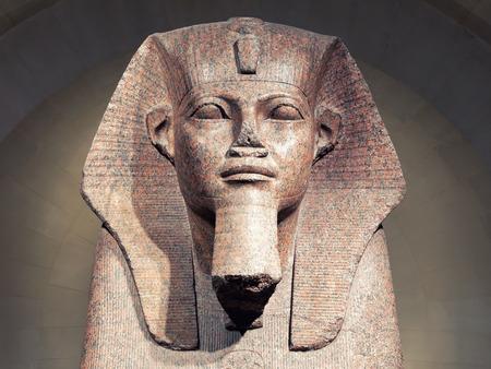 Paris, France - 20 April 2019: Great Sphinx of Tanis