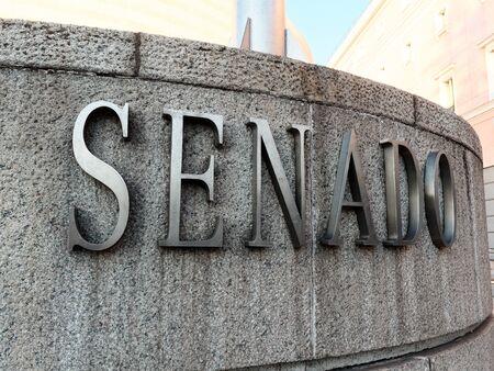 Exterior view building of Spanish senate (senado)