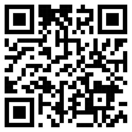 QR code sample for smartphone scanning isolated on white background. Vector illustration