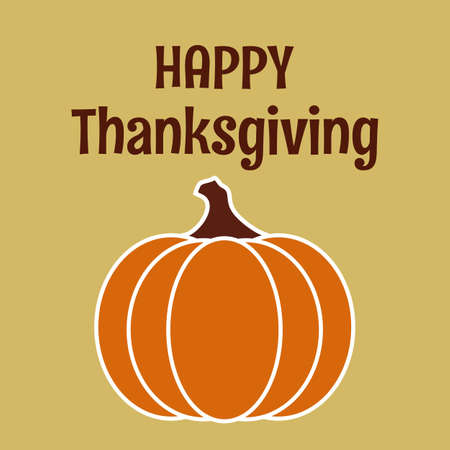Happy Thanksgiving Card for thanksgiving traditional festival in autumn or fall to say thanks to God from pilgrim