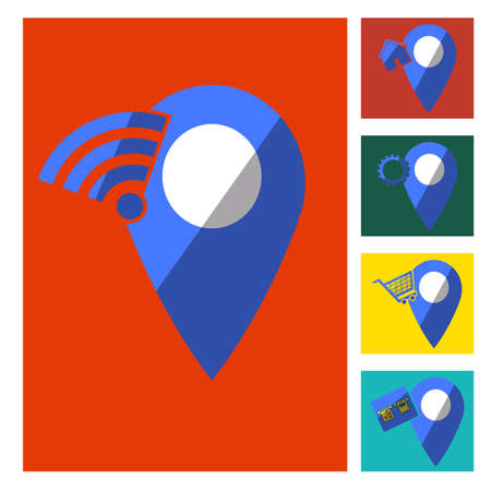 location notification, home, wireless, shopping, banking, repair locations.