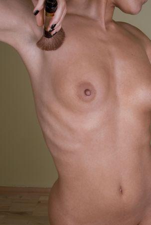 mujer sexy desnuda: Hermosa torso de delgado mujer desnuda sexy