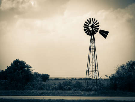 Old weathered windmill out west