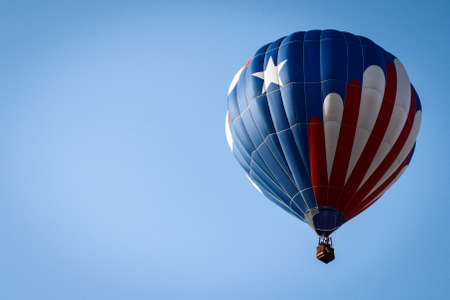 Image of a Patriotic Hot Air Balloon Above photo