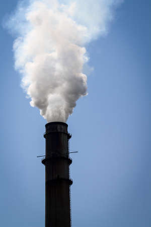Image of a Solitary Smoke Stack photo