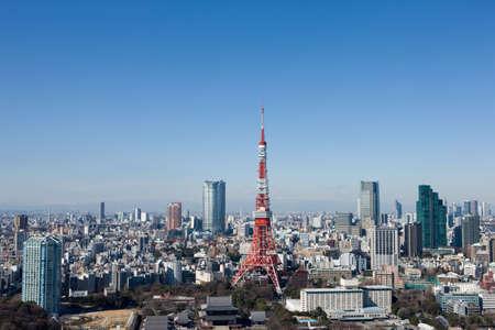 tokyo tower: Office building street of Minato-ku, Tokyo