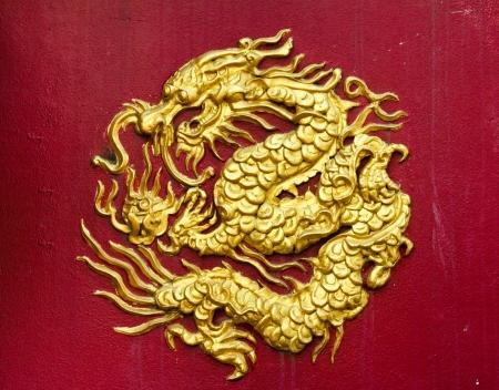 dragones: Animales de drag�n dorados tienen el poder para iluminar el halo Foto de archivo