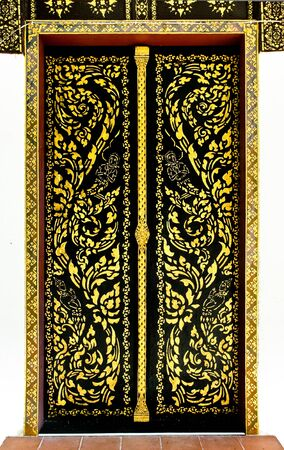 Door of the temple. The detailed design of the invention photo