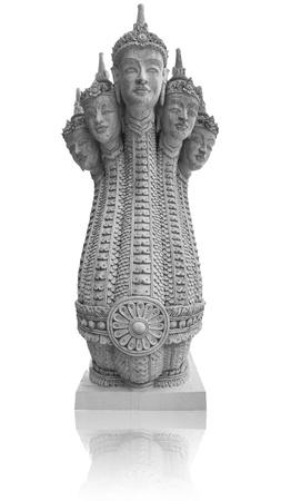 Thai art of stucco head of a body, a snake man photo
