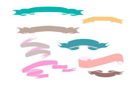 Colored Ribbons, vector illustration greeting holiday web Иллюстрация
