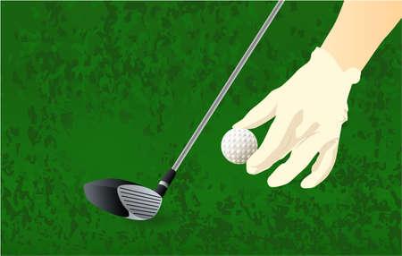 hand, golf club, grass golf player ball