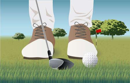 golf course, golf player, golf ball game